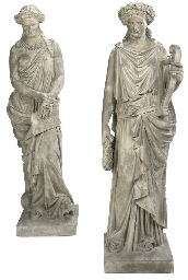 A PAIR OF TERRACOTTA CLASSICAL