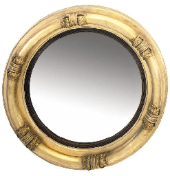 A WILLIAM IV GILT CONVEX MIRRO