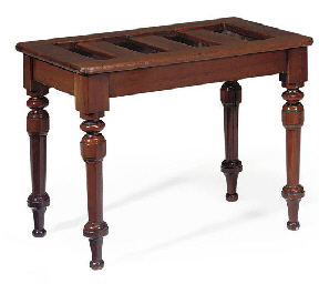 A LATE VICTORIAN MAHOGANY LUGG