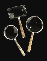 THREE SILVER-MOUNTED SHAGREEN-