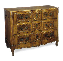 A FRENCH PROVINCIAL WALNUT SER