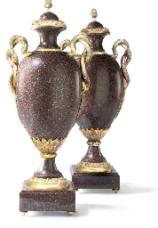 A PAIR OF GILT-BRONZE AND SIMU