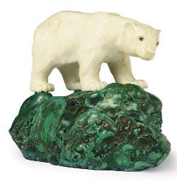 A MARBLE MODEL OF A POLAR BEAR