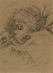 Boy sleeping; the artist's son