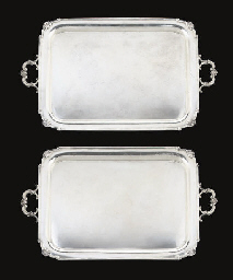 A PAIR OF SILVER TWO-HANDLED T