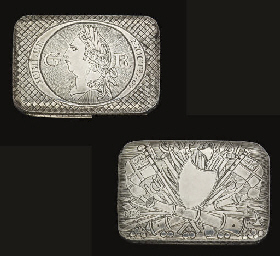 A RARE GEORGE III SILVER COMME