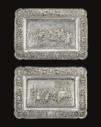 A PAIR OF DECORATIVE METALWARE