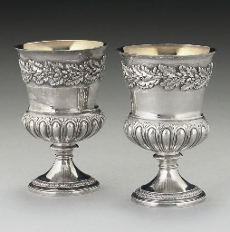 A PAIR OF GEORGE III SILVER GO