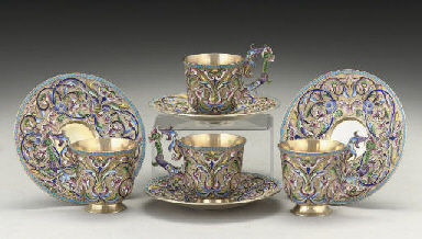 A SET OF FOUR EARLY 20TH CENTU
