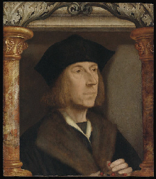 Portrait of gentleman, bust-le