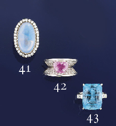A aquamarine and diamond ring