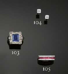 A ruby and diamond eternity ri
