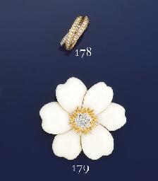 A triple hoop diamond ring, by