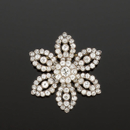 A 19th century diamond flowerh