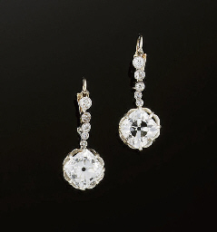 A pair of Edwardian diamond ea