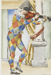 Arlecchino con il violino