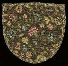A NEEDLEWORK PURSE, LATE 17TH,