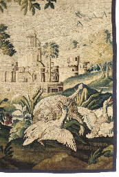 A TAPESTRY FRAGMENT, FLEMISH,