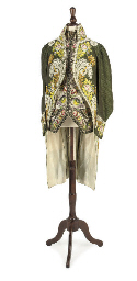 A SUPERB GREEN SILK COURT COAT