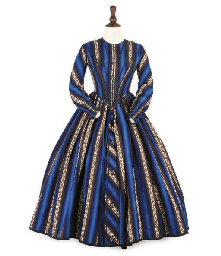 A STRIPED DAY DRESS, CIRCA 184