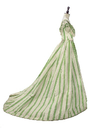 A DRESS OF GREEN AND WHITE STR