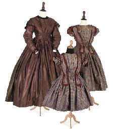 THREE DRESSES, MID 19TH CENTUR
