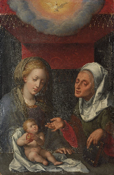 The Virgin and Child with Sain