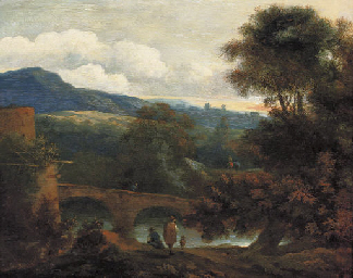 An Italianate wooded river lan