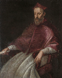 Portrait of a Cardinal, three-