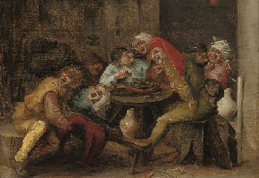 Boors merrymaking in a tavern