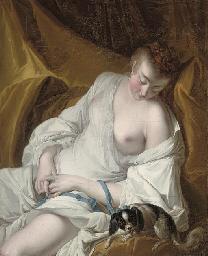A woman en déshabille