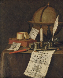 A vanitas still-life with a gl