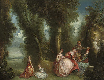 A classical landscape with ele