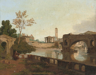 A view of Rome with the Ponte