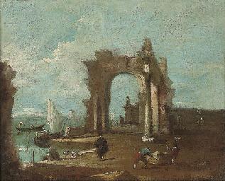 A capriccio of the Venetian la