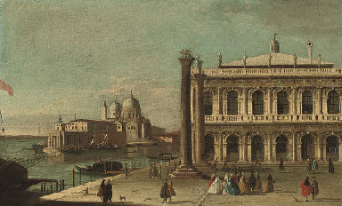 The Piazzetta, Venice, with th