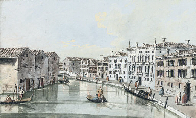 A view of a canal in Venice