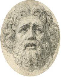 Head of a bearded man, after t