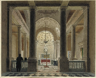 The interior of a chapel