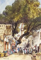 A Moroccan bazaar