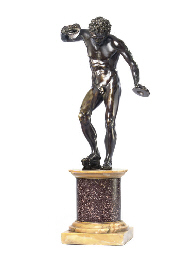 A BRONZE FIGURE OF THE DANCING