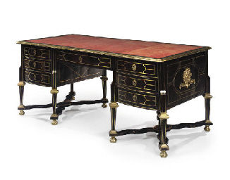 A LOUIS XIV ORMOLU-MOUNTED AND