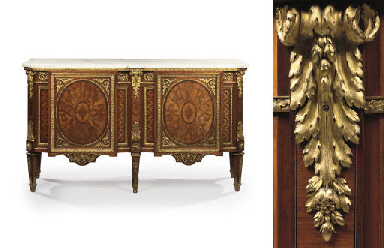A LOUIS XVI ORMOLU-MOUNTED, TU