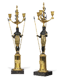 A PAIR OF SWEDISH ORMOLU, PATI