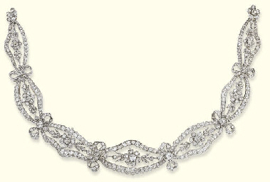 A BELLE EPOQUE DIAMOND TIARA/C