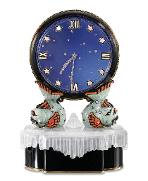 THE ART DECO MYSTERY CLOCK 'LE