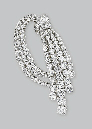A DIAMOND BROOCH, BY VAN CLEEF