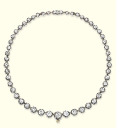 AN ANTIQUE DIAMOND RIVIERE