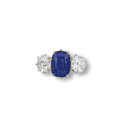 A FINE SAPPHIRE AND DIAMOND TH