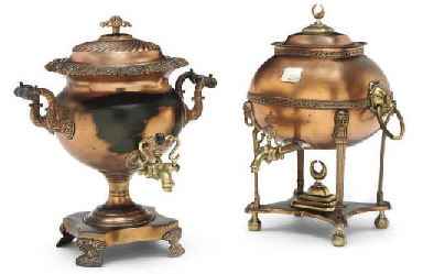 TWO REGENCY COPPER AND BRASS-M